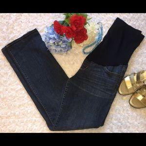 Liz Lange Dark Wash Maternity Jeans Size 6